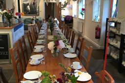 Flexible studio space for group meals