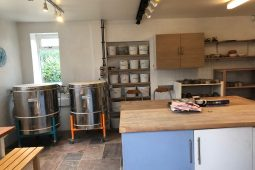 Pottery firing and glazing studio