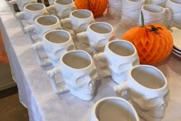 Hallowe'en pottery painting