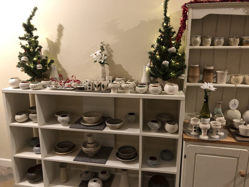Annual Christmas Fayre with pottery for sale