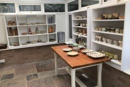 Our cosy gallery with pottery for sale