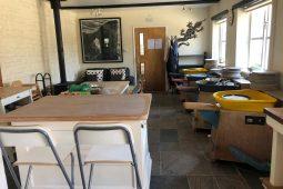 Spacious pottery studio