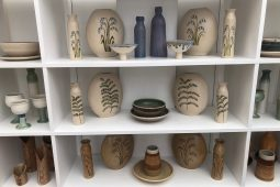 Range of pottery for sale in gallery