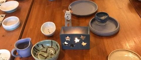 8 week pottery class pieces