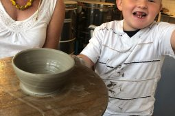 Throwing on the pottery wheel