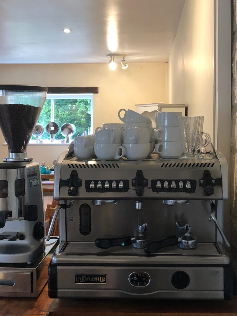 Coffe machine ready for action in our pottery studio