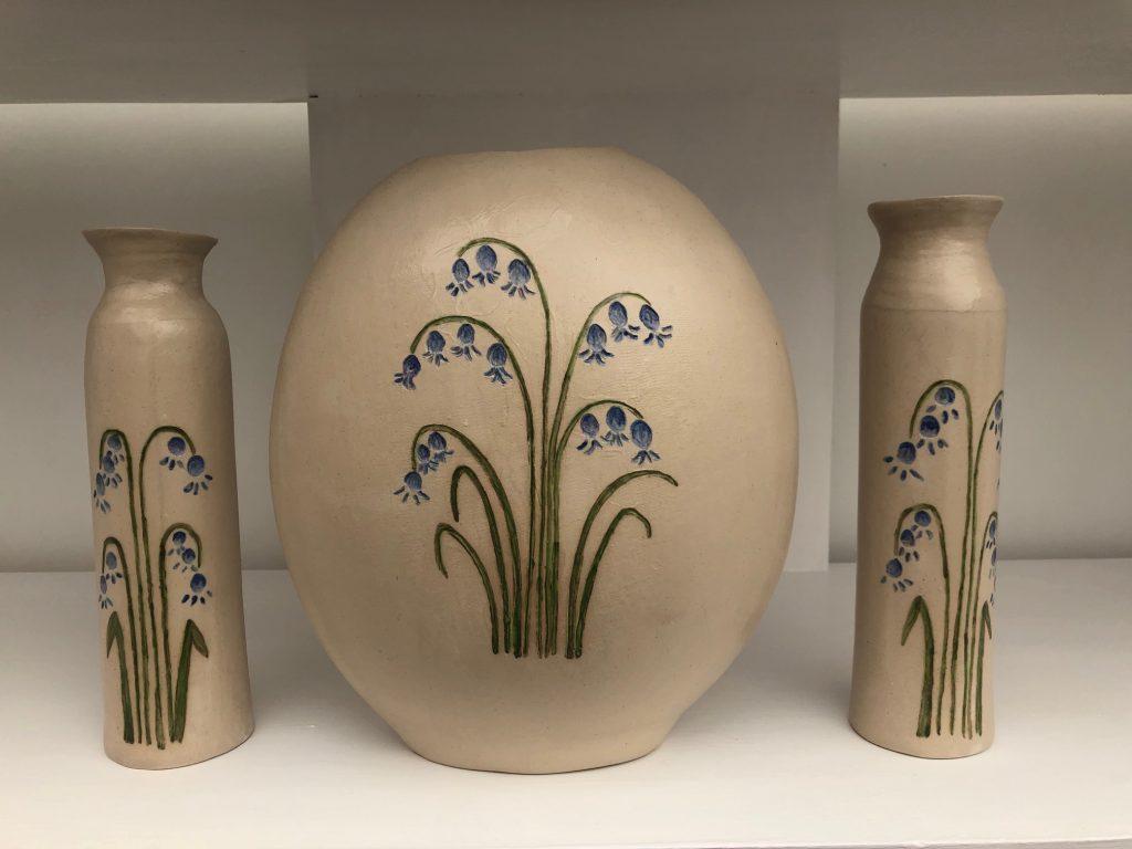 Bluebell style pottery vases & bottles